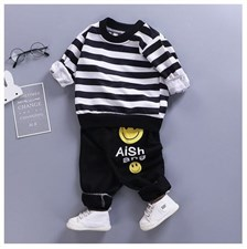 Stripe Winter Kid Outfit