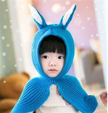 baby rabbit ears baby shawl cap