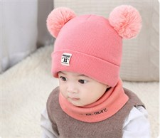 Warm Pom Bobble Hat Knit Set