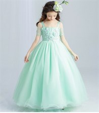 Green Elegant Tulle Lace