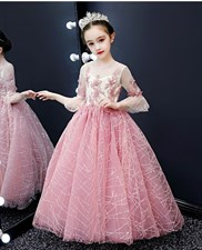 Sequin Girls Pageant Dress
