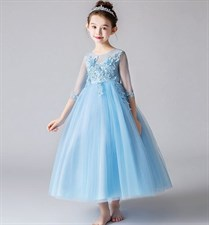 Blue tutu flower dress