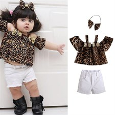 Shoulder Leopard Print Set