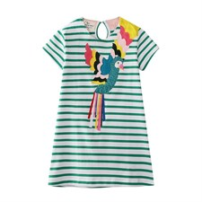 Parrot Printed Girls Dress