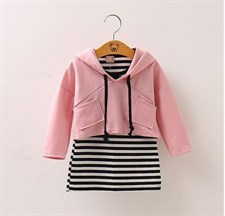 Striped Dress +jacket