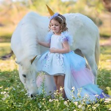 Fluffy Girl Princess Unicorn Dress