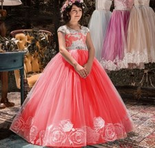 Floral Frocks Long Tulle Gown