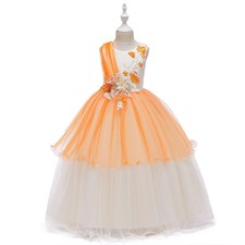 Applique Party Ball Gown