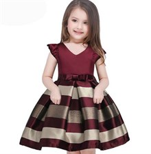 Maroon Strip Dress