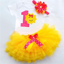 Sun Smile 1st Birthday Dress