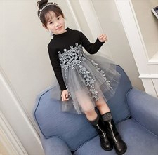 Elegant Lace Winter Girl Dress