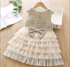 Baby Lace Pearl cake vest Dress