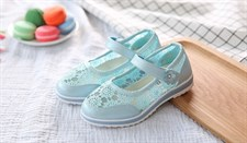 Lace embroidered shoes