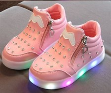 LED Zipper Sneakers