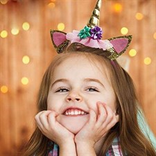 Unicorn Birthday Girl Party Headdress