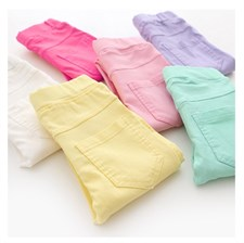 Slim Candy Colors Pants