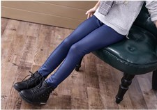 Pu Leather Warm Slim Trousers