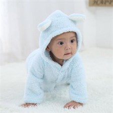 Warm Cartoon Hooded Romper