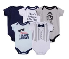 Baby Boy 5 pack Romper Set