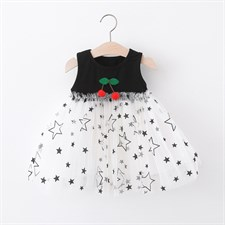 Toddler cherry star Frock
