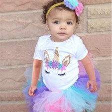 Unicorn Party Outfits Infant