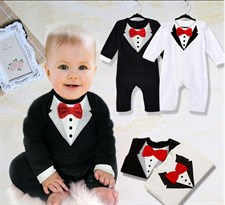 Bow Tie Baby Boys Jumpsuit