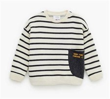 Striped Sweatshirt with side Pocket